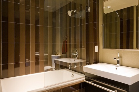 Lower Level Modern Bathroom