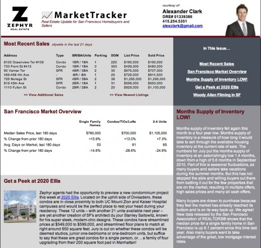 how to get sales listings