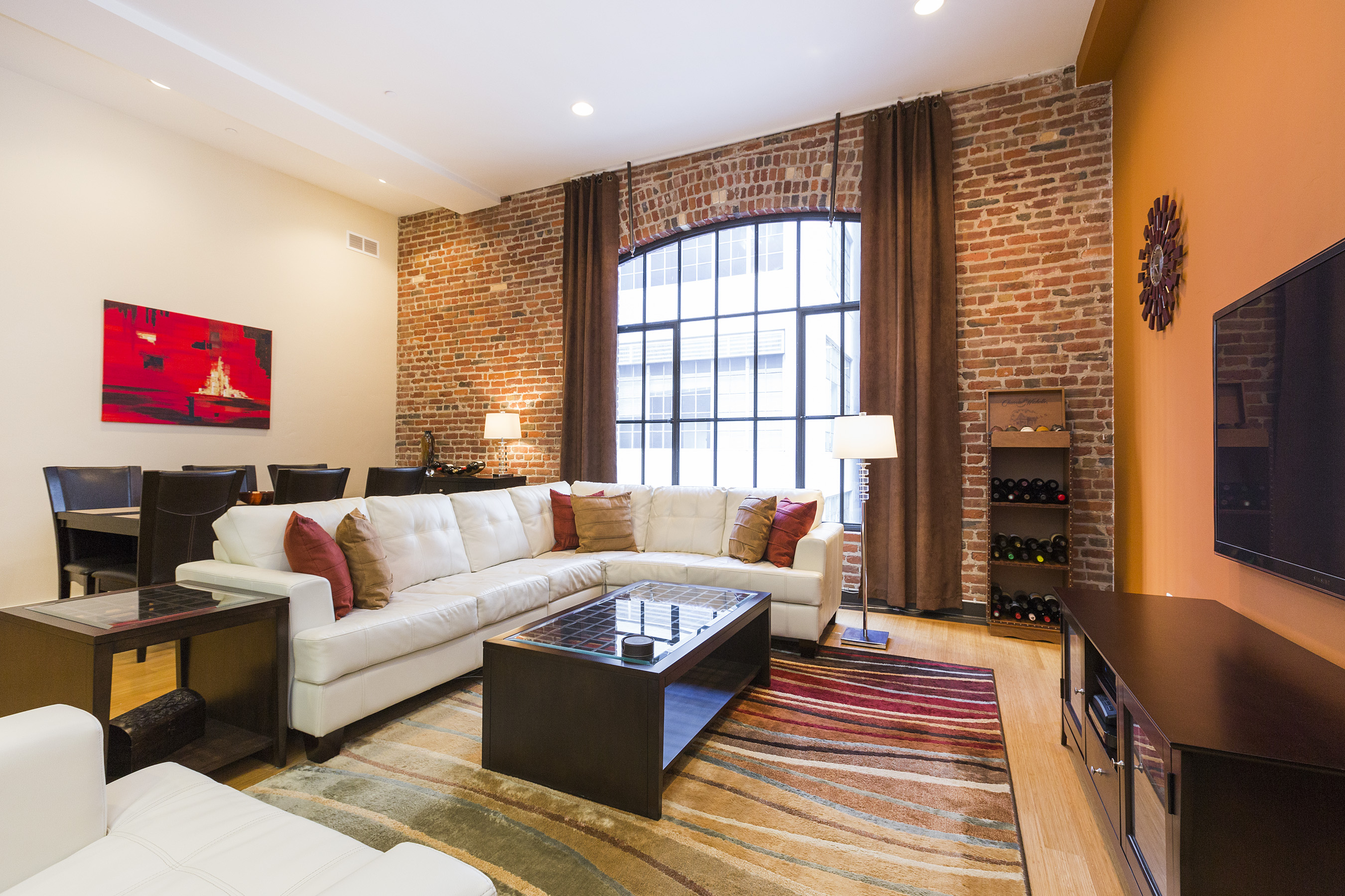 the brick condo furniture. Luxury Downtown Condo With Brick Furniture The