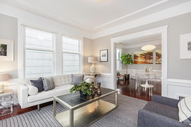 1487 Chestnut Living Room to Dining Room