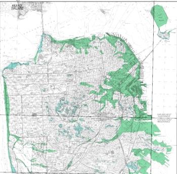 san francisco neighborhoods prone to liquefaction and earthquake induced landslides bedrock vs landfill take