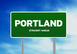 Portland, Oregon Highway Sign