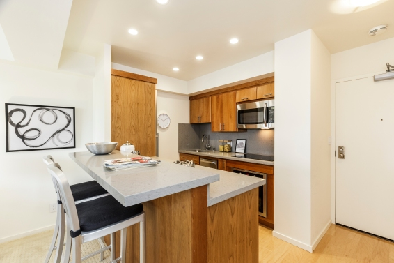 1177 California #304, Gramercy Towers Remodeled Kitchen