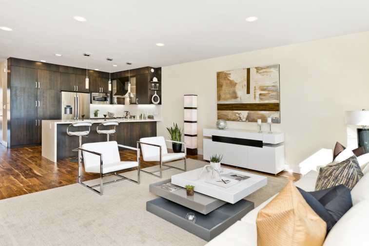 960 Harrison Kitchen/Living Area
