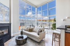 1011 23rd Street Living Area with Soaring Ceilings