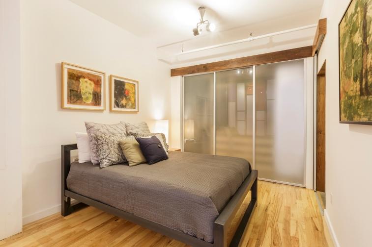 Box Factory Loft Bedroom w/ Custom Closets