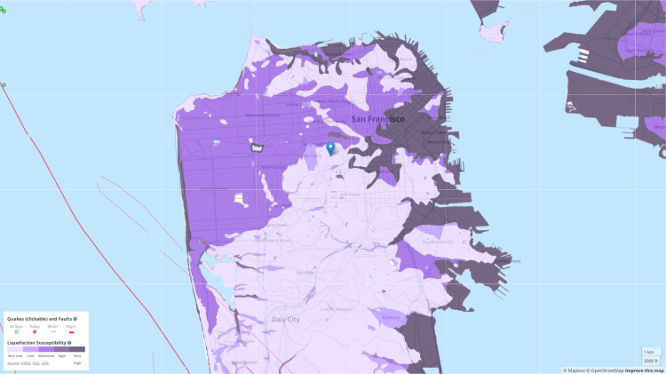 SF liquefaction map