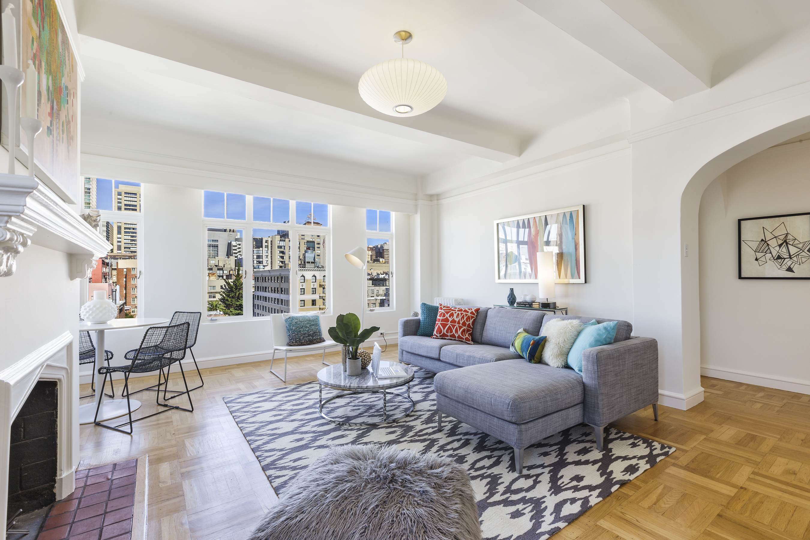 Sold 666 post 1201 downtown union square 732 500 - The living room at the w union square ...